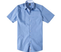 Herren Hemd Slim Fit Chambray blau