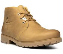 Herren Schuhe Schnürstiefeletten, Kalbleder, sand beige