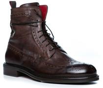 Schuhe Stiefeletten mit Reißverschluss Leder