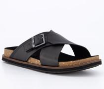 Schuhe Pantoletten Leder