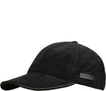 Herren Cap, Baumwolle, schwarz