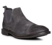 Herren Schuhe Chelsea Boots Veloursleder dunkelgrau