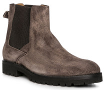 Schuhe Chelsea Boots Veloursleder grau