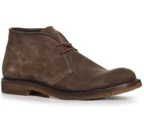 Herren Schuhe Desert Boots, Kalbvelours, castagno braun