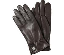 Herren Handschuhe, Ziegen-Nappaleder, mittelbraun