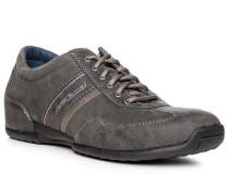 Herren Schuhe Sneaker, Veloursleder, anthrazit grau