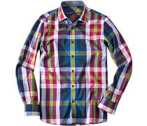 Herren Hemd Regular Cut Baumwolle multicolor kariert