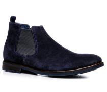 Herren Schuhe Chelsea Boots Veloursleder dunkelblau blau,blau