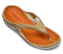 Herren Schuhe BEACH Gummi gelb-orange gestreift