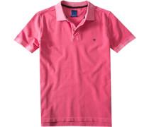 Herren Polo-Shirt Regular Fit Baumwoll-Piqué pink rosa