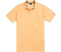 Herren Polo-Shirt Baumwoll-Piqué maisgelb meliert