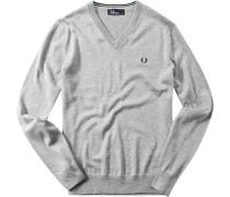 Herren Pullover Baumwolle grau meliert