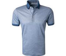 Polo-Shirt, Baumwolle, hell meliert