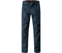 Herren Jeans, Tailored Fit, Baumwoll-Stretch, dunkelblau