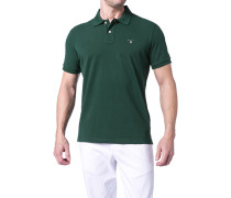 Herren Polo-Shirt Regular Fit Baumwoll-Piqué dunkel