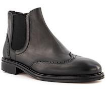 Schuhe Chelsea Boots, Leder, nero