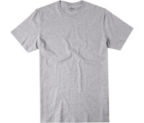Herren T-Shirt Pima-Baumwolle hell meliert