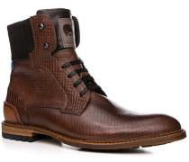 Herren Schuhe Stiefeletten Kalbleder cognac gemustert braun,schwarz