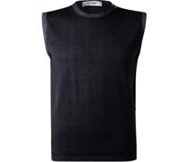 Pullover Pullunder Wolle marine
