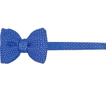 Krawatte Schleife Seide azurblau gemustert
