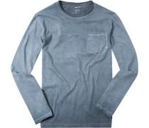 Herren T-Shirt Lonsleeve Baumwolle rauch