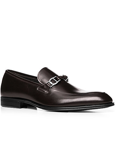 Aigner Herren Schuhe Loafer, Leder, dunkel