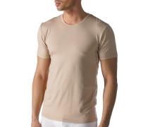 Herren Drunterhemd Baumwoll-Mix beige