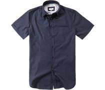 Herren Hemd, Popeline, navy blau