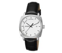 Herren Uhren Uhr, Edelstahl, silber-schwarz