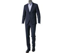 Anzug Extra Slim Fit Schurwoll-Stretch nacht