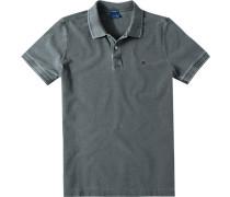 Herren Polo-Shirt Modern Fit Baumwoll-Piqué dunkel meliert