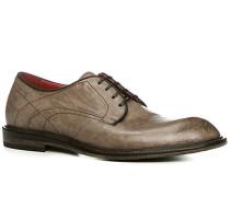 Herren Schuhe Derby, Kalbleder glatt, moka braun