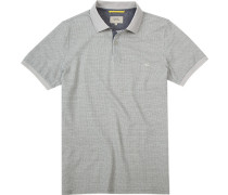 Herren Polo-Shirt, Baumwoll-Piqué, beige gemustert