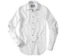 Herren Hemd Regular Fit Baumwolle weiß