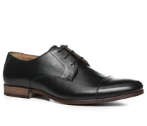 Herren Schuhe Derby Kalbleder schwarz