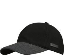 Herren Cap Wolle schwarz