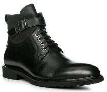 Herren Schuhe Stiefelette, Kalbleder, schwarz