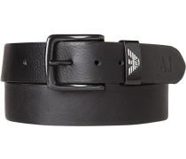 Herren Gürtel schwarz, Breite ca. 3,5cm