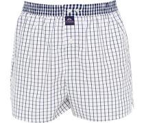 Herren Unterwäsche Boxershorts, Baumwolle, weiß-blau kariert
