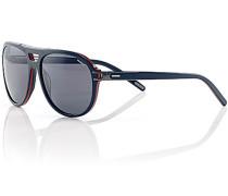 Herren Brillen Sonnenbrille, Metall-Kunststoff, blau-rot