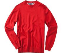 Herren Pullover Baumwolle rot