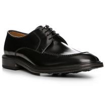 Herren Schnürschuhe, Glattleder, schwarz