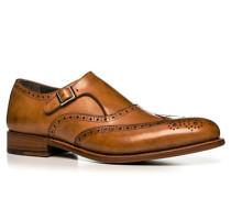 Herren Schuhe Monkstrap, Kalbleder, cognac cognac ton