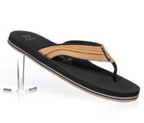 Herren Schuhe Zehensandalen Textil schwarz-braun braun,schwarz