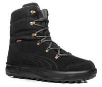 Herren Schuhe Schnürstiefeletten Leder-Textil-Mix GORE-TEX® warm gefüttert schwarz