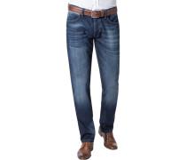 Herren Jeans, Slim Fit, Baumwoll-Stretch, indigo blau