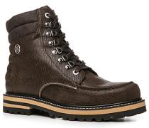 Herren Schuhe Stiefel Leder dunkelbraun