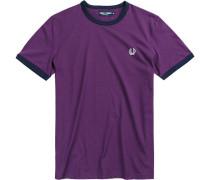 Herren T-Shirt Baumwolle violett lila