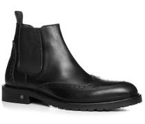 Herren Schuhe Chelsea Boots Leder schwarz schwarz,schwarz