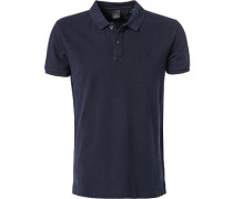 Herren Polo-Shirt Baumwolle navy blau